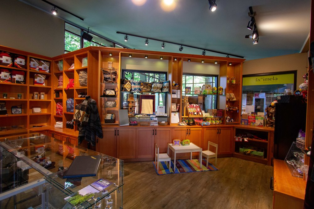 Retail - Sxwimele Boutique and Gifts is located at the Fort National History Site in Fort Langley, BC.We feature local Indigenous artists, specialty gifts, every day necessities and more.Inside you will find artwork, hand carved jewelry, traditional blankets, decorative housewares, and other unique items designed by Indigenous artists.visit our website here.