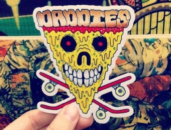daddies pizza sticker screedler
