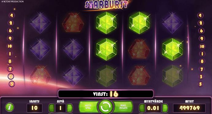 """Här ser du att vinsten också kan räknas från höger till vänster, vilket kallas för """"win both ways"""". Vanligtvis räknas endast vinster från vänster till höger"""