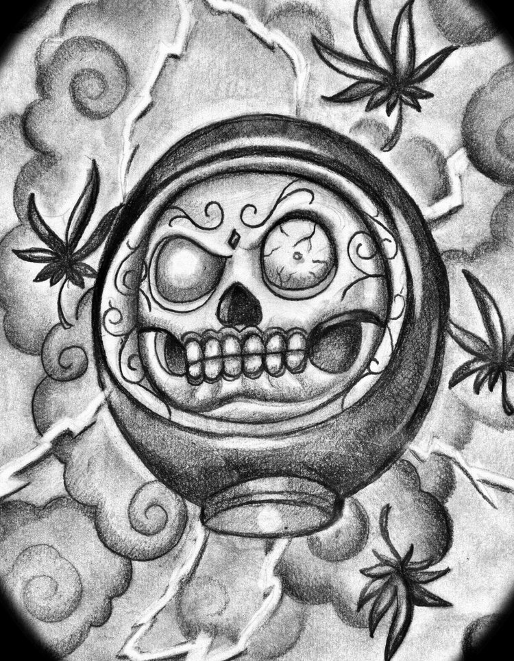 Black Daruma Tattoo