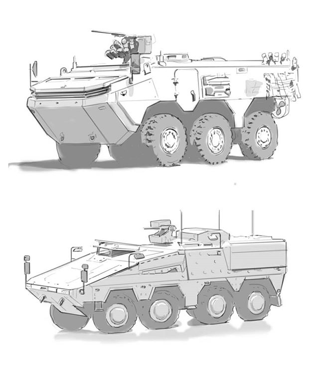 Studies!  #hardsurface #vehicle #drawing