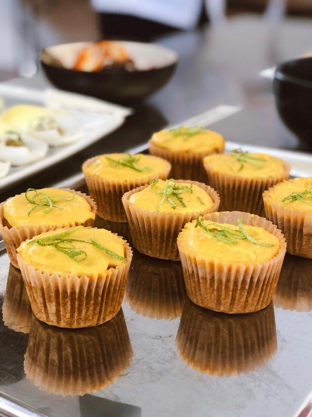 Grain Free Turmeric Cupcakes