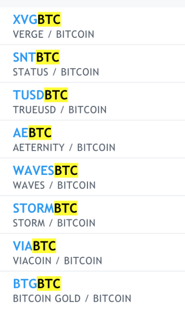 On Watch - XVG, SNT, TUSD, AE, WAVES, STORM, VIA, BTG