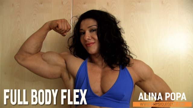Full Body Flex - Striking full body posing in an outfit that shows off Alina's physique in a beaufitul way. [6:01 minutes]