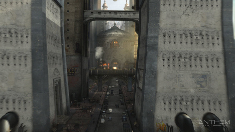 Shot1: Flythrough of central city