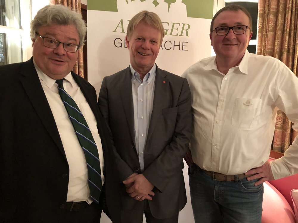 Von links: Reinhard Bütikofer, Reiner Hoffmann und Alois G. Steidel