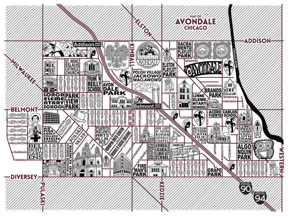 Chicago Neighborhood Maps — Joe Mills Illustration on