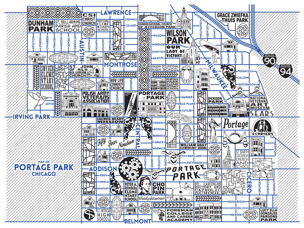 Portage Park Map -  Purchase a map here