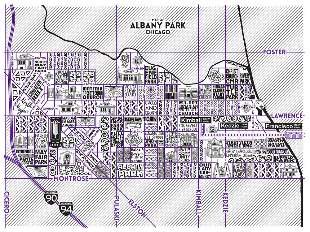 Albany Park Map -  Purchase a map here