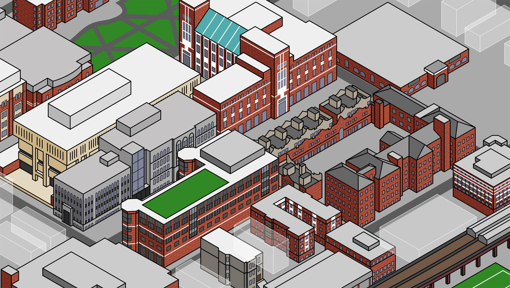 Depaul University Campus Maps Joe Mills Illustration
