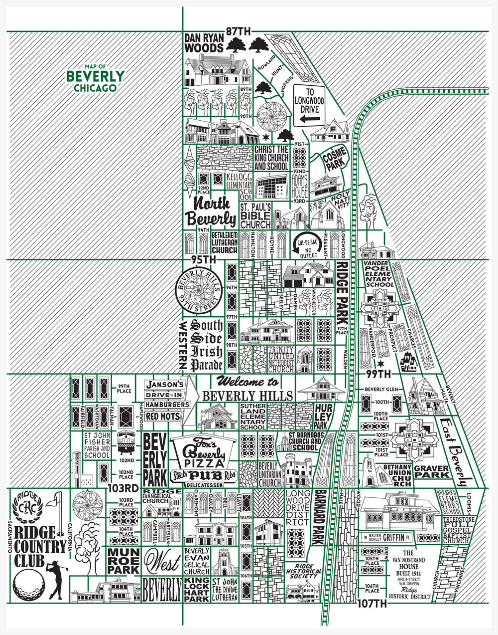 Beverly Map -  Purchase a map here
