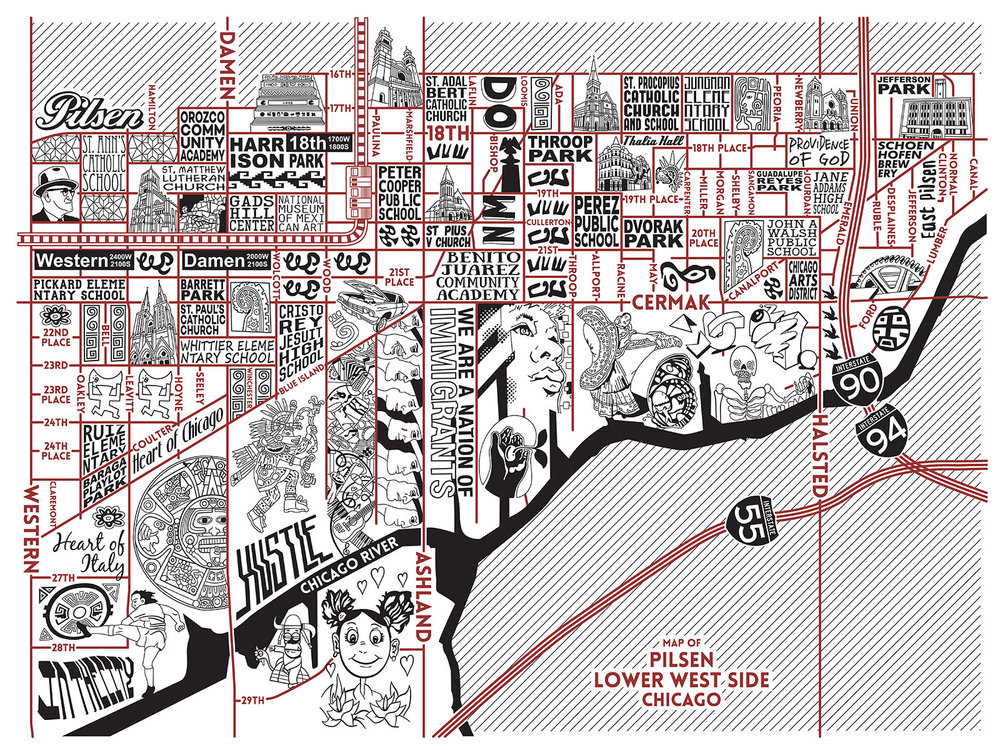 Pilsen and Lower West Side Map -  Purchase a map here
