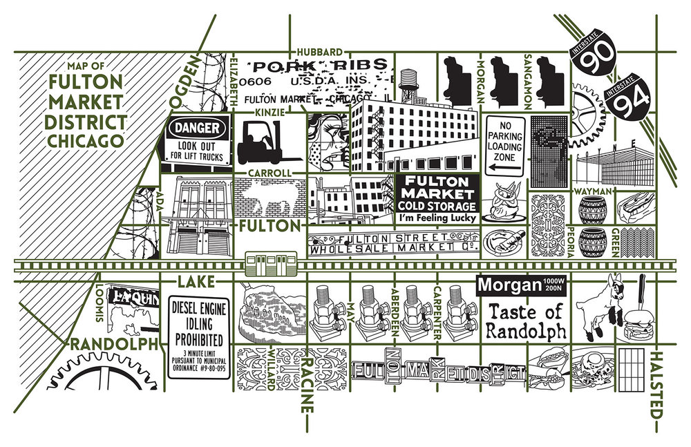Fulton Market District Map-  Purchase a map here
