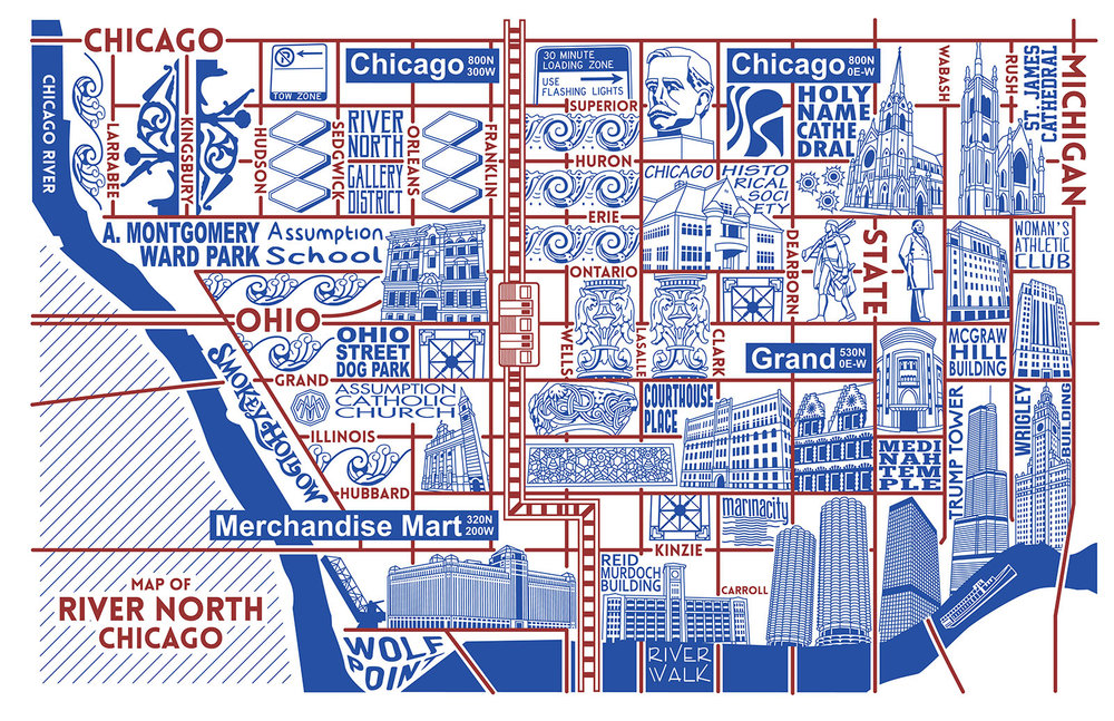 River North Map -  Purchase a map here