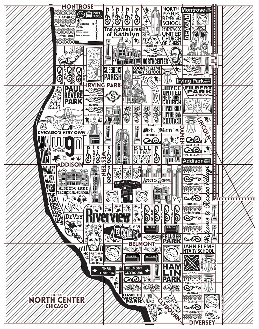 North Center Map -  Purchase a map here