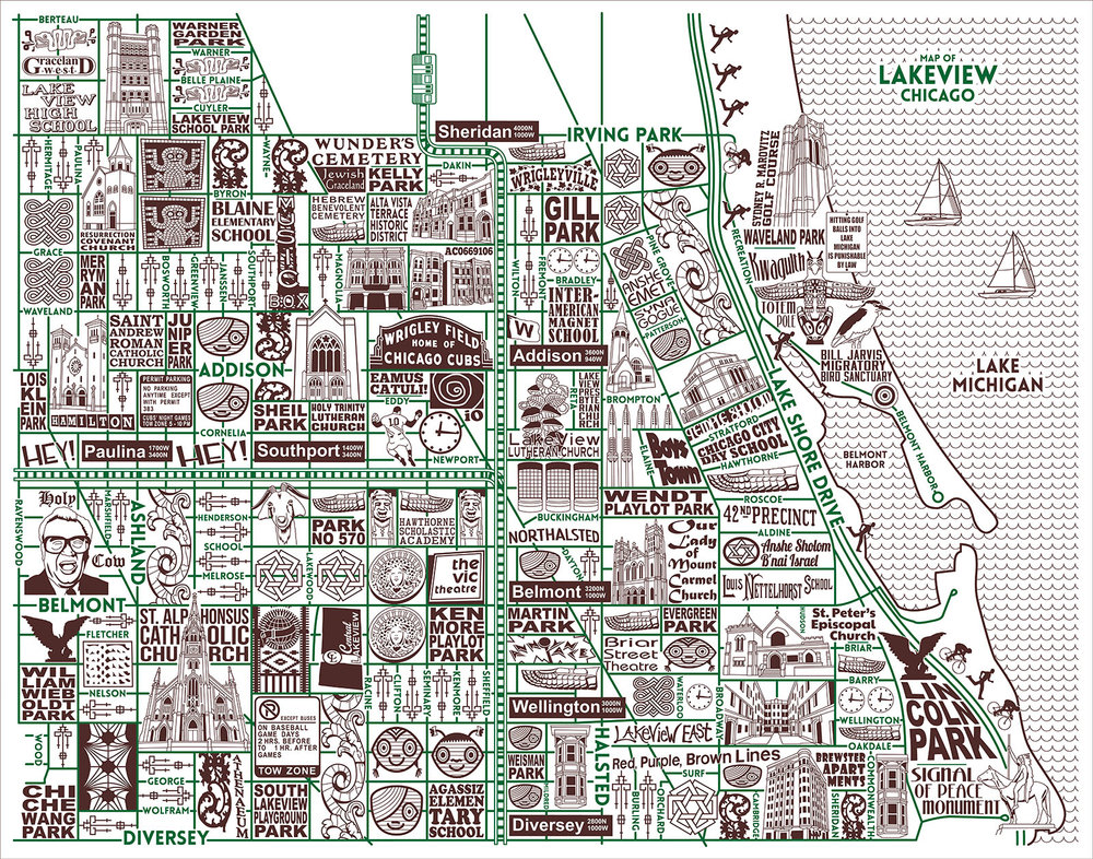 Chicago Neighborhood Maps Joe Mills Illustration