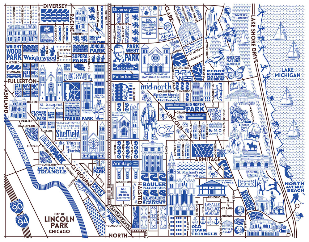 Lincoln Park Map -  Purchase a map here
