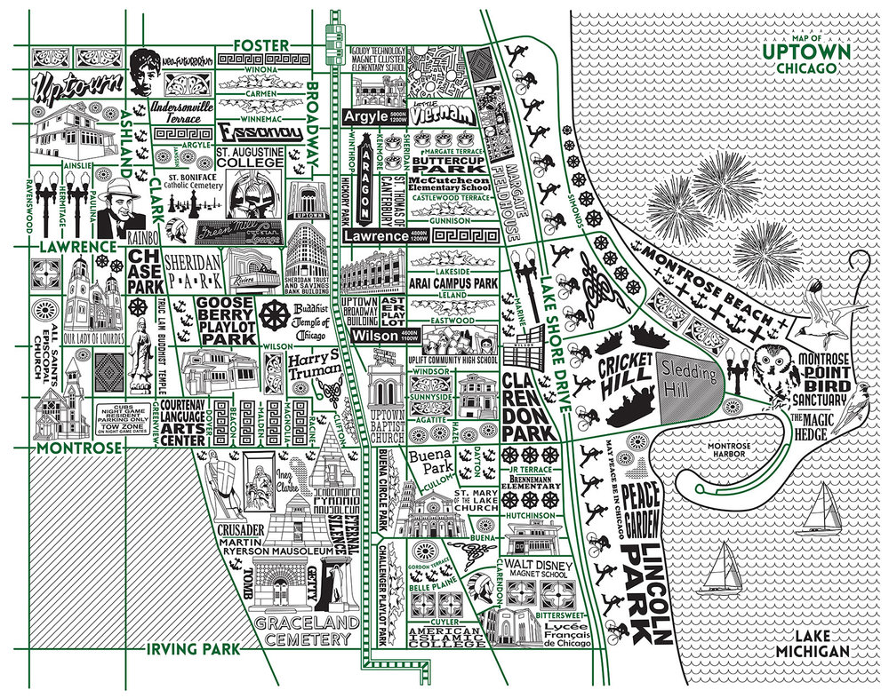 Uptown Map -  Purchase a map here