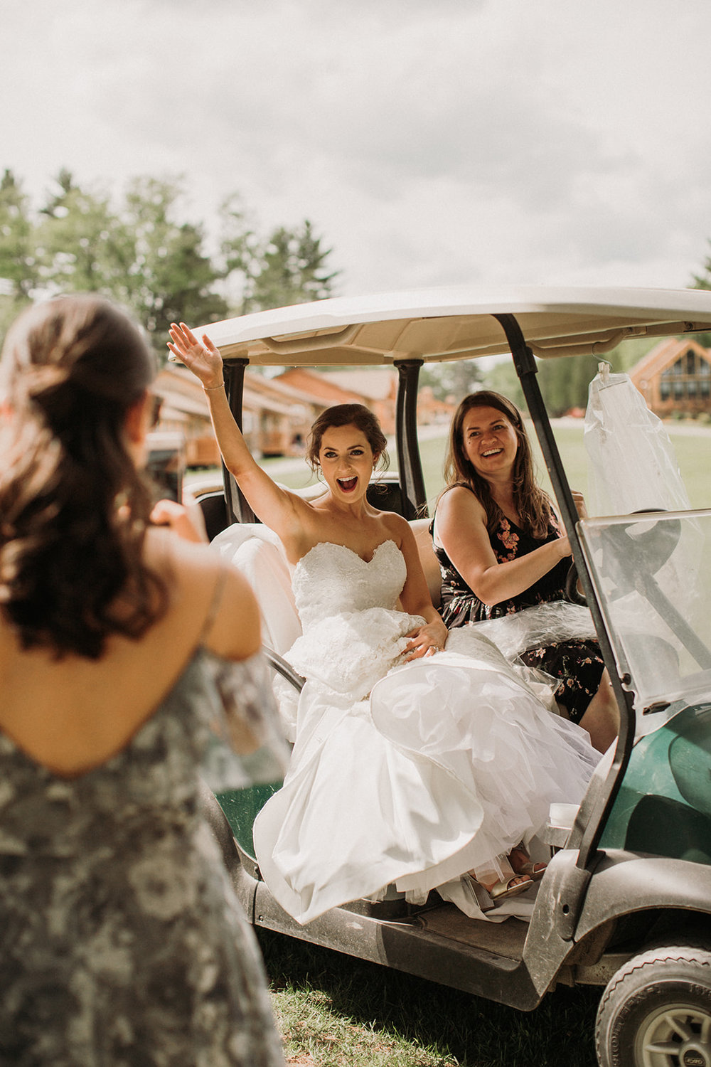 Me driving my sweet bride Emily around on her wedding day. Photo by    Ramblefree Photo Co   .
