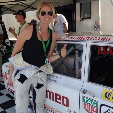Kelly racing El Taxi Perdido in La Carrera Panamericana