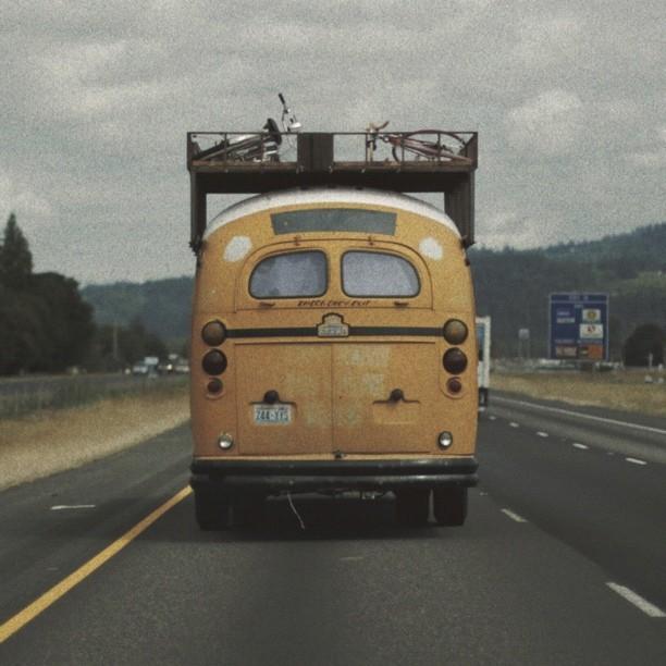 Bus (Taken with  Instagram  at Interstate 5 North - Kalama,WA)