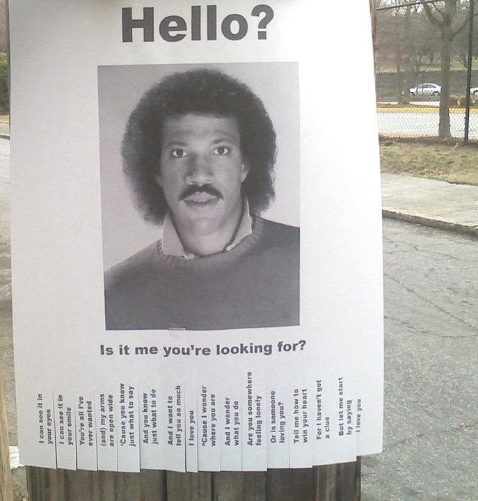verydewarsontherocks :     Hello?  Is it me you're looking for?