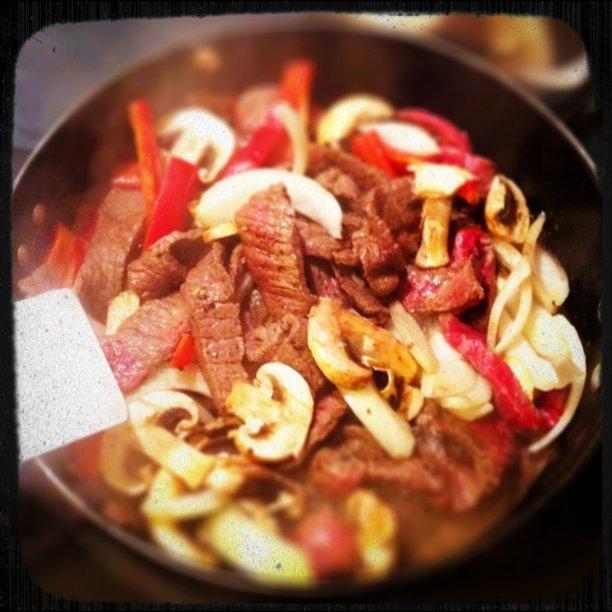 Change of plans. Fajita's for dinner.  (Taken with  instagram )