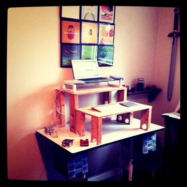 Take 3 on the stand up desk (Taken with  instagram )
