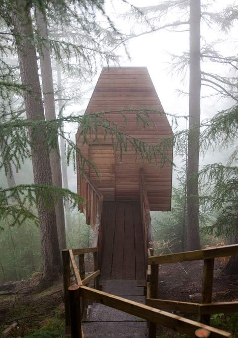 I would love to have a tree house a couple of hours out of town just like this. Maybe a bit bigger to accomodate my kiddos, but you get the idea.   via Dezeen