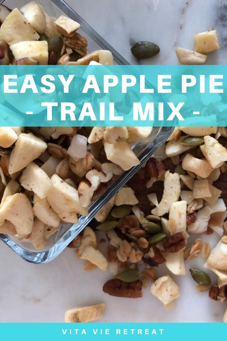Healthy apple pie trail mix.