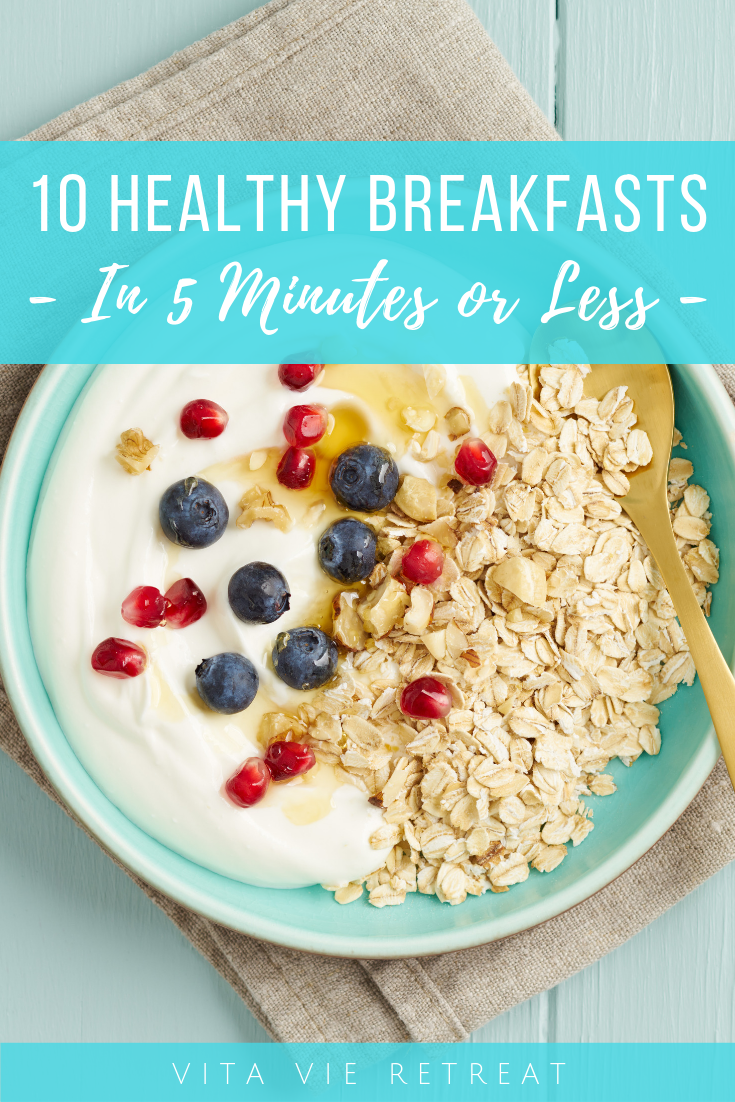 Oats and berries is a simple healthy breakfast.