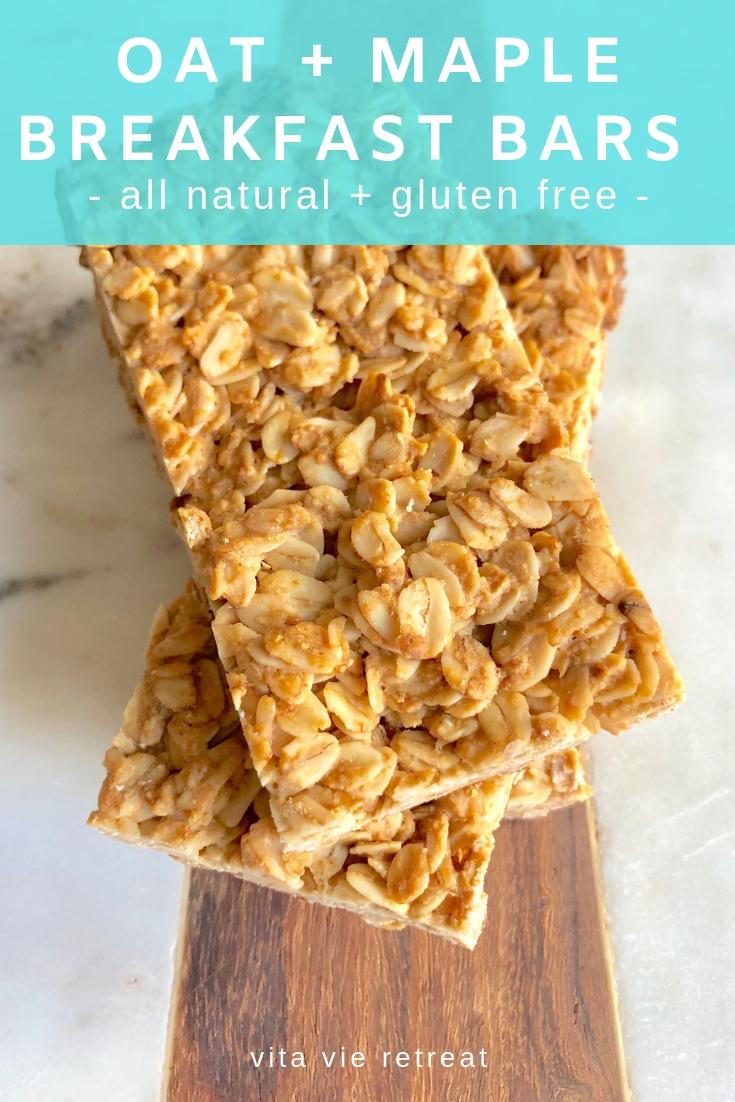 Gluten free oat maple breakfast bars.