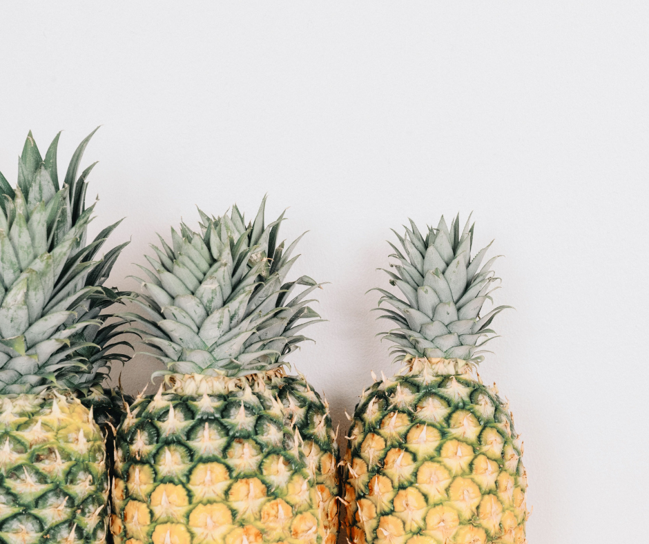 Fresh pineapples.
