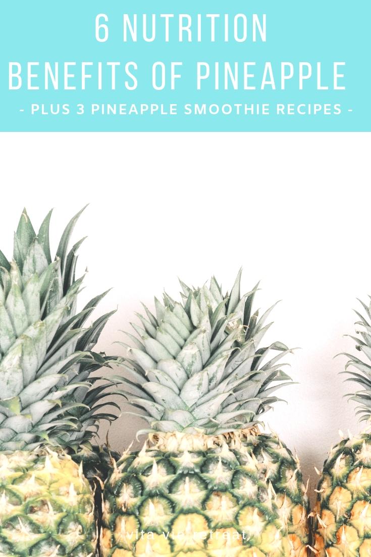 Pineapple has many nutrition benefits.