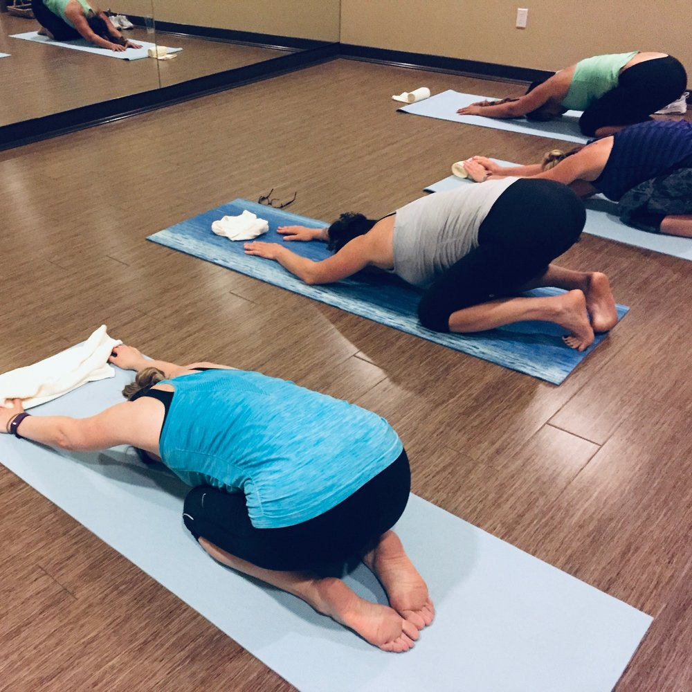 Stretch class after a long day of fitness at vita boot camp.