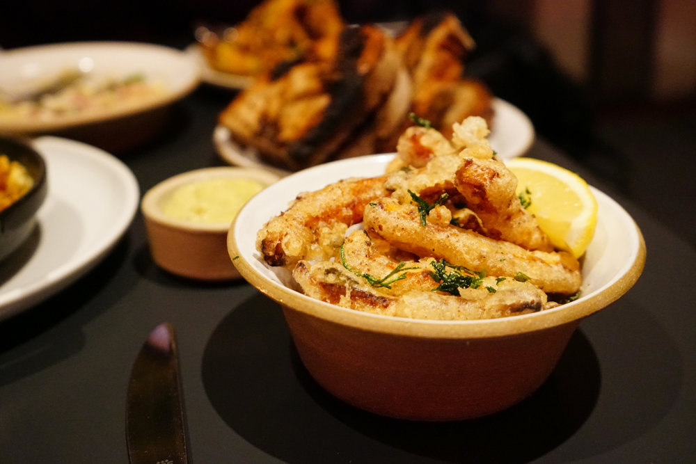 Butternut 'Fries' with Lemon-Parmesan Dressing at Loring Place in New York City
