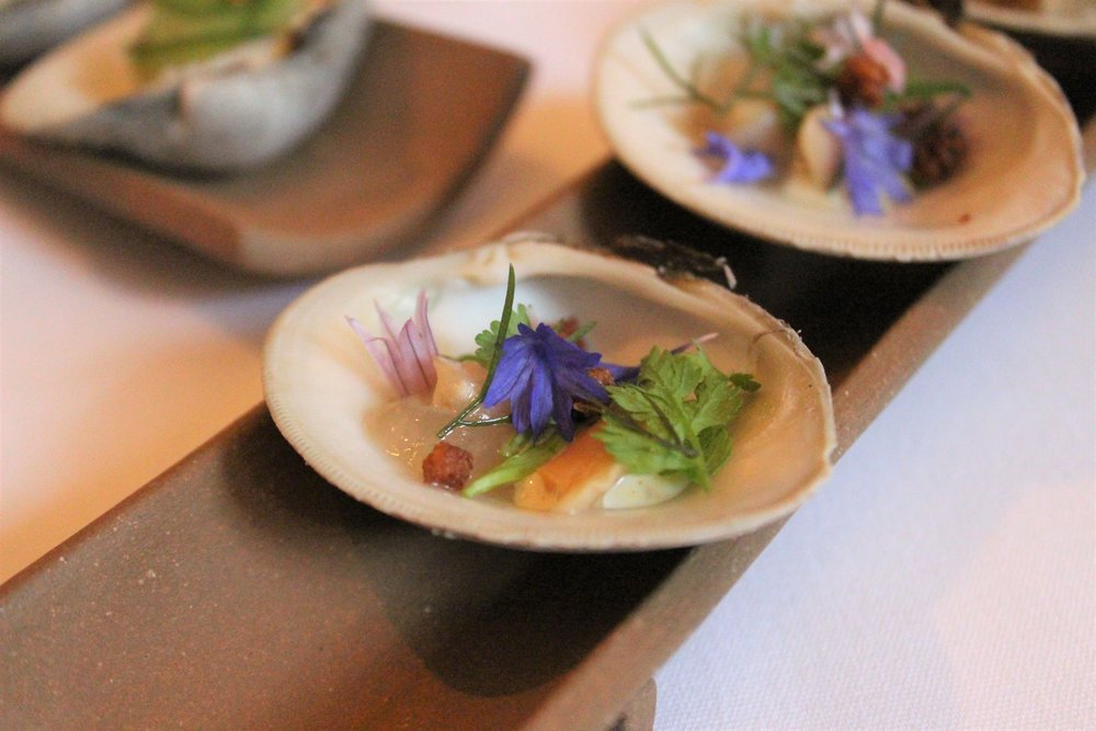 2011 Little Neck Clam Clambake with Velouté and Parker House Rolls at EMP in New York City