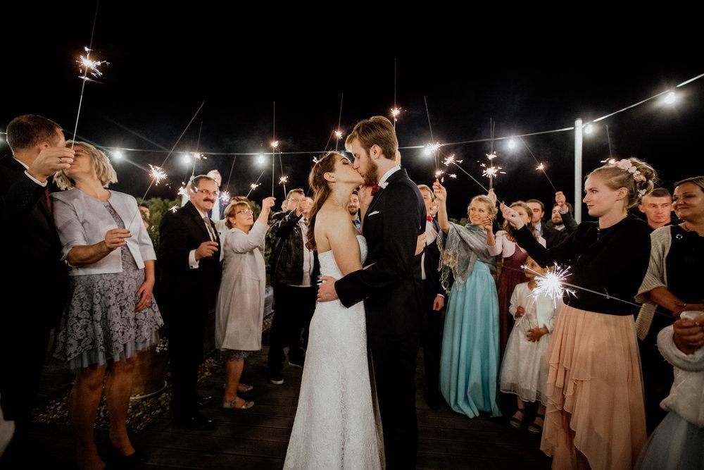 Zimne ognie na ślubie
