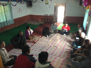 Sharing God's Word and prayer with two elders from one village church