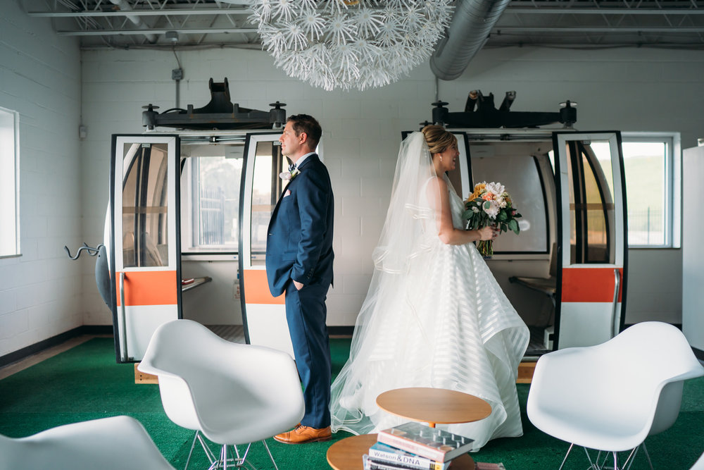 St Louis Modern Wedding, First Look