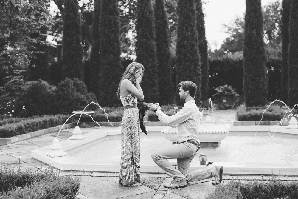 Proposal Photographer Missouri Botanical Gardens