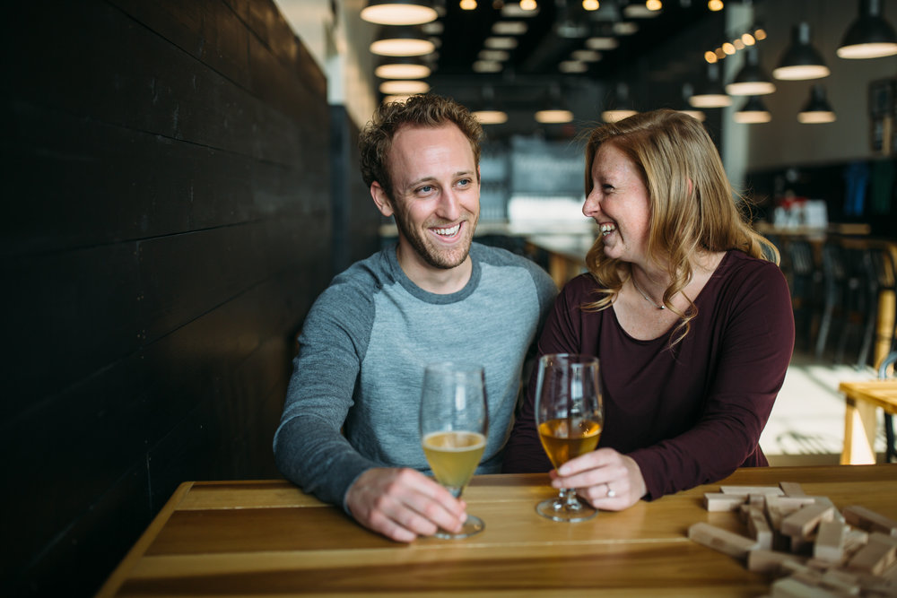 St Louis Brewery Engagement photos