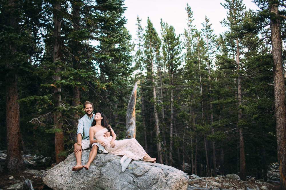 St Mary's Glacier Colorado Engagement