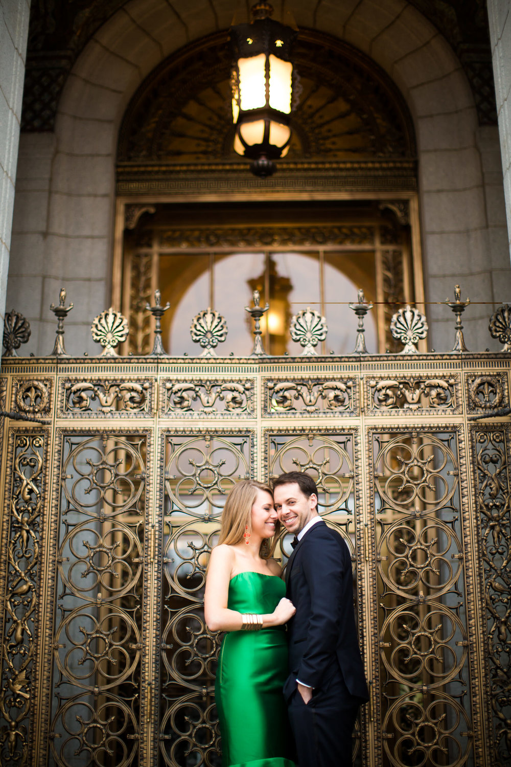 Black tie engagement photos NYC and STL