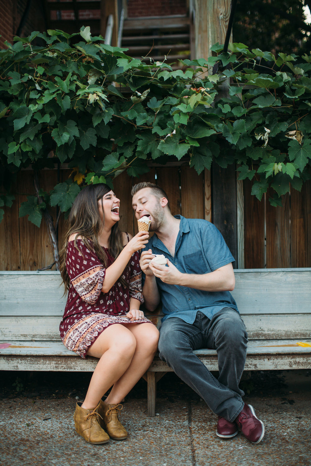 St Louis Engagement photos Ice cream and Salt Lake City