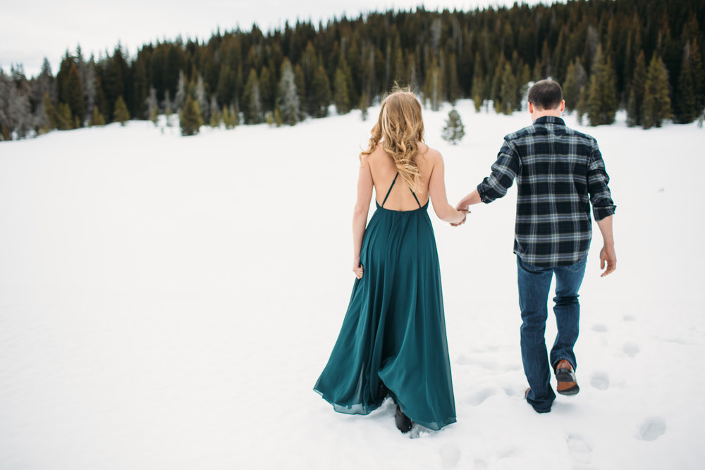 Steamboat Springs Colorado Mountain Winter Engagement