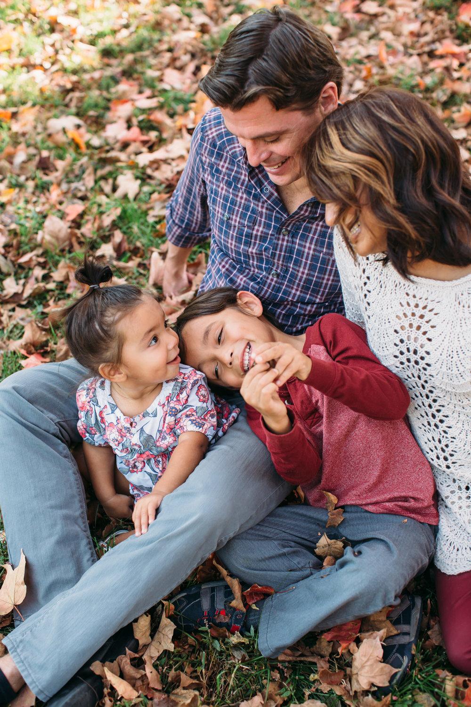 Blended family, Fall family photos, St Louis Family photographer