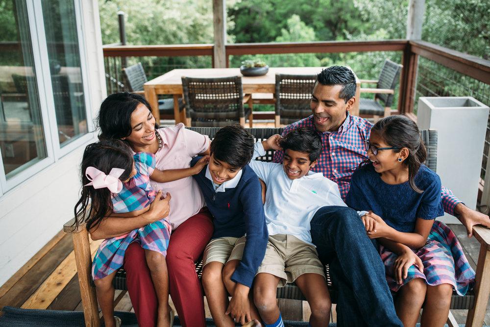 Austin Texas at home Lifestyle family photos