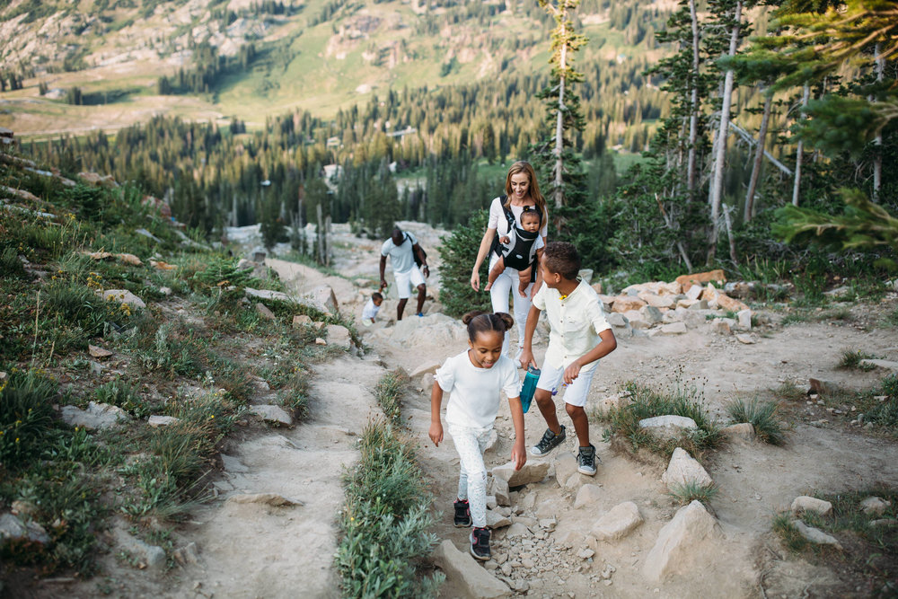 Alta, Salt Lake City Family photographer, adventure in the mountains, family hike, Utah family photographer