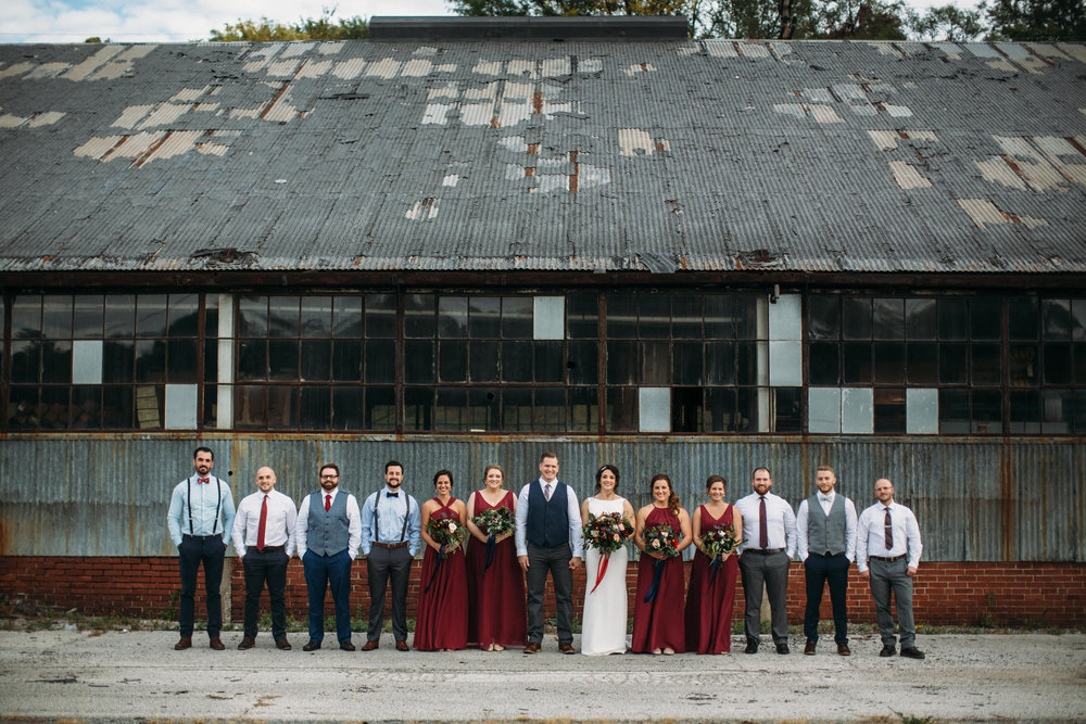 Wedding Party, Fall wedding, Midwest wedding